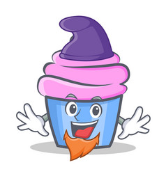 elf cupcake character cartoon style vector image