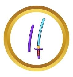 Katana ancient japanese sword icon vector