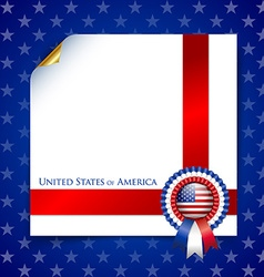 American document template vector image vector image