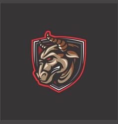 Bull mascot vector