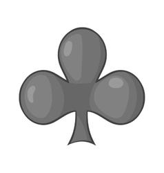 Card suit clubs icon cartoon style vector