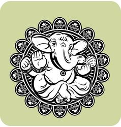 Creative of Hindu Lord Ganesha vector image