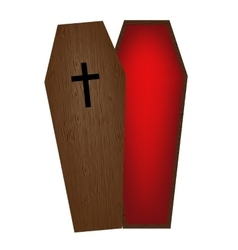 coffin vector image vector image