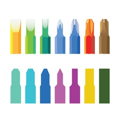 Color screw-drivers vector image