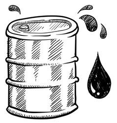 doodle oil barrel vector image