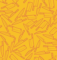 Kitchen Knives Seamless Pattern Background vector image