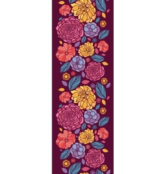 Summer flowers vertical seamless pattern vector image vector image