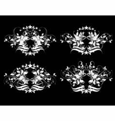 decorative element set vector image vector image