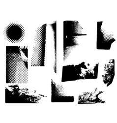 grunge corners vector image vector image