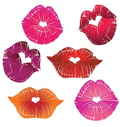 lip collection vector image