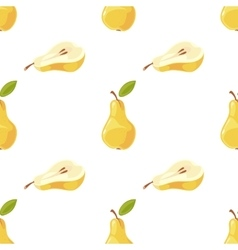 pears and slices seamless pattern vector image vector image