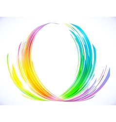 Rainbow colors abstract lotus flower symbol vector