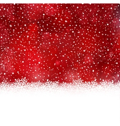 Red white Christmas winter background vector image vector image