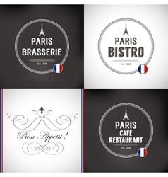Set of Paris Badges vector image
