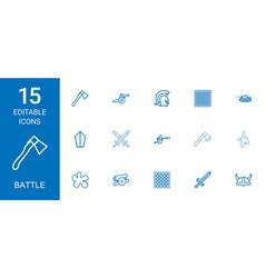 15 battle icons vector