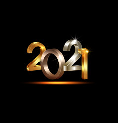 2021 happy new year luxury 3d lettering numbers vector image