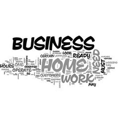 are you ready for a home business text word cloud vector image