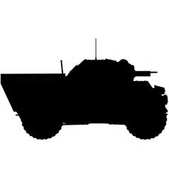 armoured car silhouette vector image