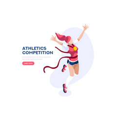 Athletes for victory cartoons vector