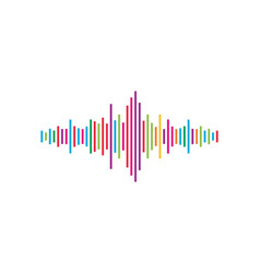 audio technology music sound waves icon vector image