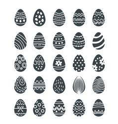 big easter egg silhouette set of logoshouettes vector image