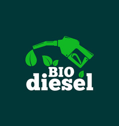 bio diesel abstract logo or sign template vector image