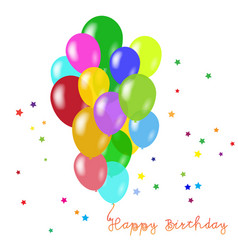 birthday background with balloons vector image