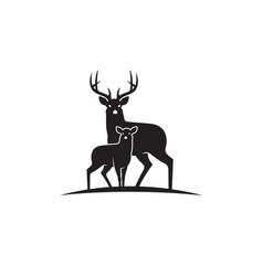 black deer emblem vector image