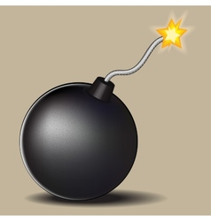 Bomb with burning fuse vector