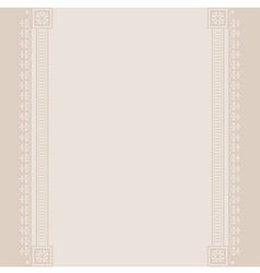 Border vintage beige background vector