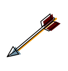 bow arrow symbol vector image