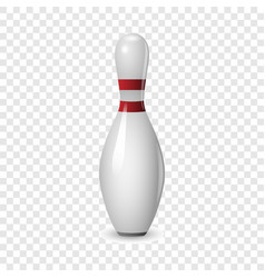 Bowling icon realistic style vector