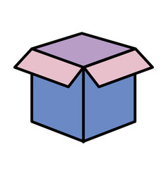 box isolated icon vector image