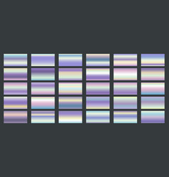 bright shine holographic swatches vector image
