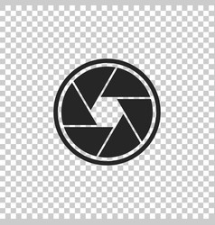 camera shutter icon on transparent background vector image