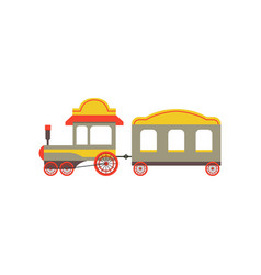 Childrens passenger toy train colorful cartoon vector