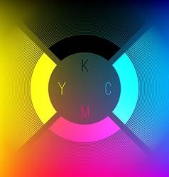 CMYK Color Wheel vector