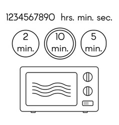 cooking signs for manuals on packing preparing vector image