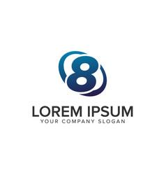 creative modern number 8 logo design concept vector image