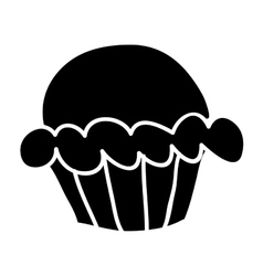 Cupcake doodle icon image vector