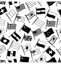 curved flags of different country seamless pattern vector image