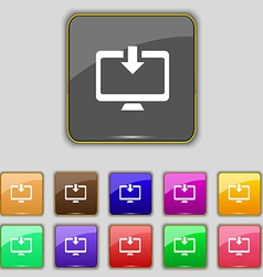Download Load Backup icon sign Set with eleven vector
