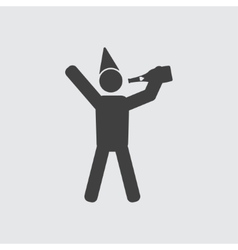 Drinking man icon vector image