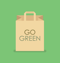 Eco friendly shopping bag vector