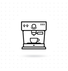 espresso coffee machine icon vector image