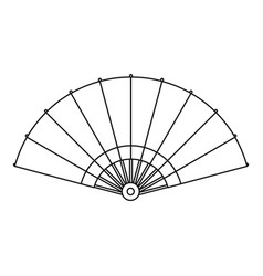 Fan icon outline style vector