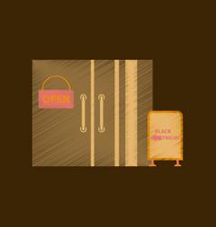 flat shading style icon wardrobe sale discounts vector image