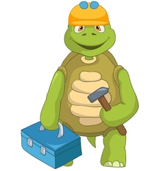 Funny Turtle Contractor vector