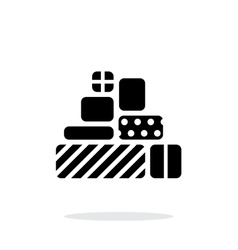 Gifts icons on white background vector image