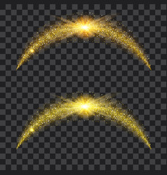 golden particle waves with bright shining vector image